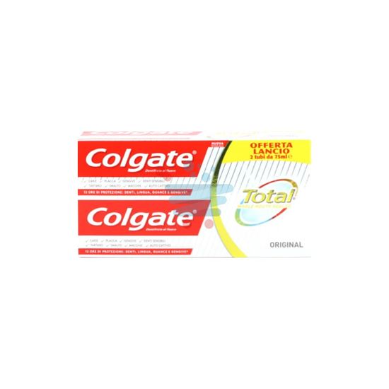 COLGATE DENTIFRICIO TOTAL ORIGINAL 75ML X2