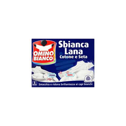 OMINO BIANCO SBIANCA LANA COTONE E SETA