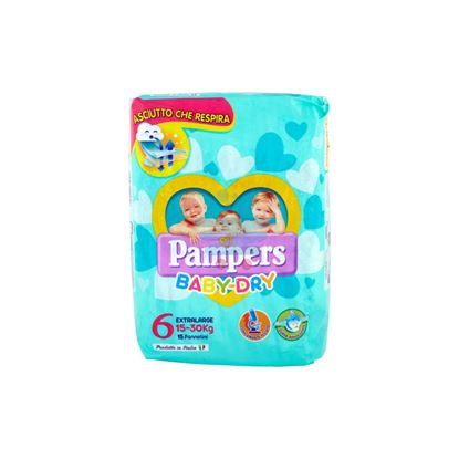 PAMPERS BABY DRY 6 EXTRALARGE 15-30KG 15PZ