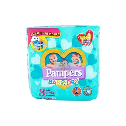 PAMPERS BABY DRY 4-9 MIS. 3