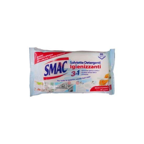 SMAC SALVIETTE DETERGENTI ED IGIENIZZANTI  3IN1 80PZ