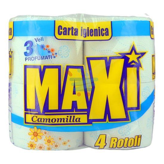 MAXI CARTA IGIENICA CAMOMILLA 3 VELI  4 ROTOLI