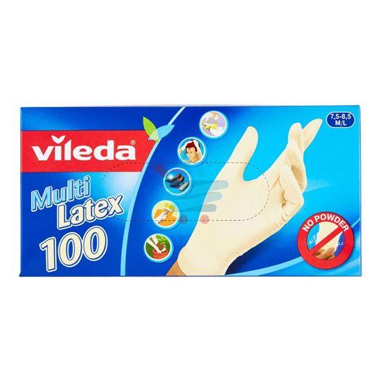 VILEDA GUANTI IN LATTICE MULTI LATEX MISURA M/L 100PZ