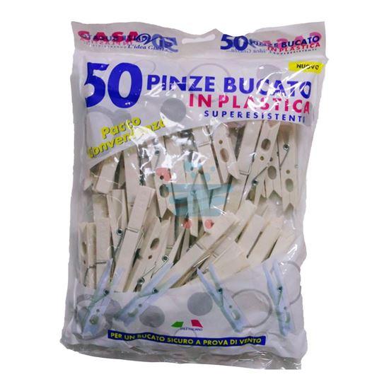 CASAVIP MOLLETTE PLASTICA 50PZ BIANCHE IN BUSTA