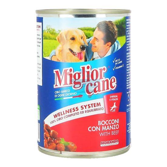 MIGLIOR CANE BOCCONI CON MANZO 405 GR