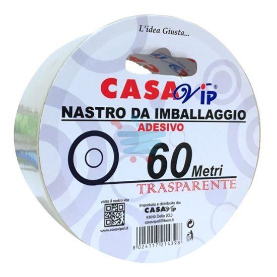 CASAVIP NASTRO IMBALLAGGIO TRASPARENTE 60MT