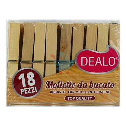 DEALO MOLLETTE LEGNO 18PZ