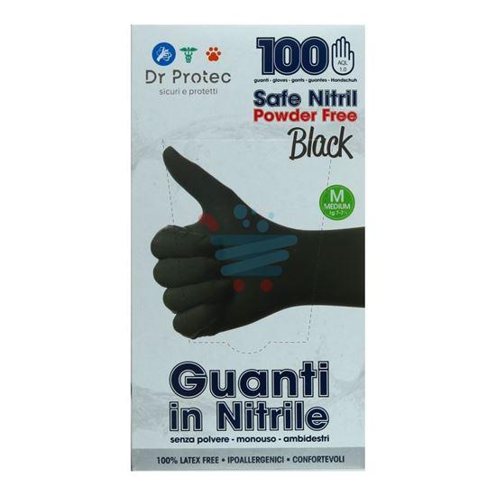 BERICAH SAFE NITRIL BLACK GUANTI NITRILE 100PZ M