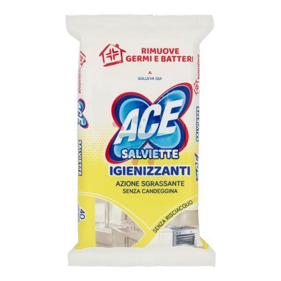 ACE SALVIETTE IGIENIZZANTI AZIONE SGRASSANTE 40 PEZZI