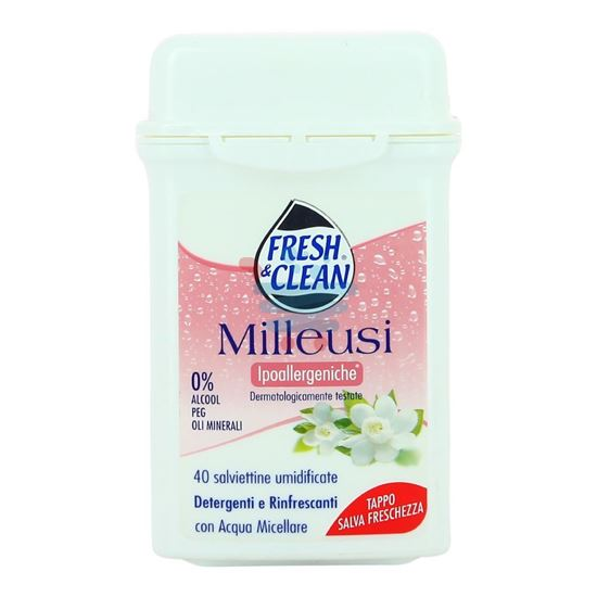 FRESH&CLEAN MILLEUSI SALVIETTE IPOALLERGENICHE 40 PEZZI