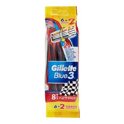 GILLETTE BLUE3 NITRO USA&GETTA 8 PEZZI