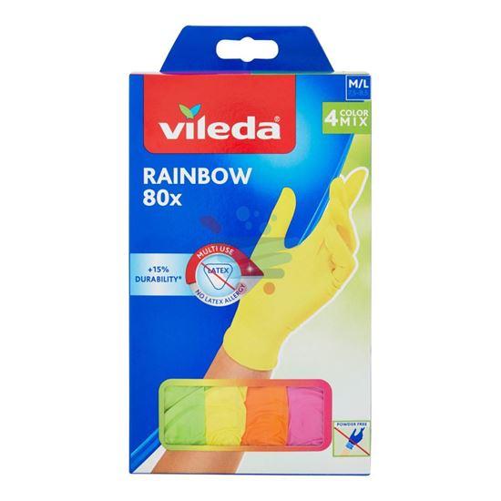 VILEDA RAINBOW NITRILE M/L 4 COLOR MIX 80 PEZZI