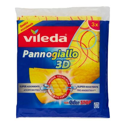 VILEDA PANNOGIALLO 3D 3 PEZZI