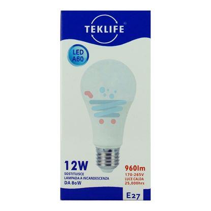 TEKLIFE LAMPADA LED SFERA 12W E27 LUCE CALDA