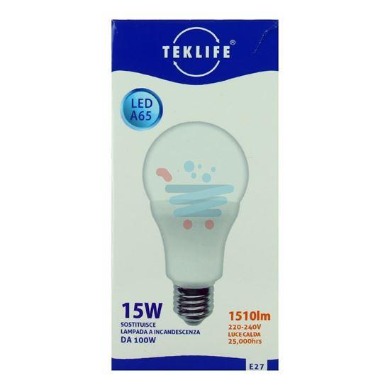 TEKLIFE LAMPADA LED SFERA 15W E27 LUCE CALDA