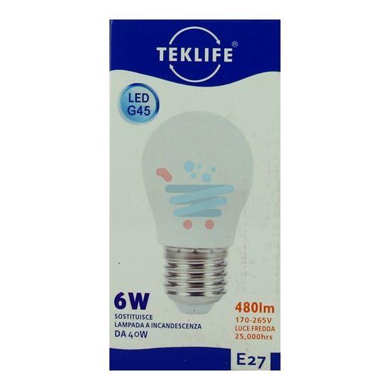 TEKLIFE LAMPADINA MINI SFERA LED 6W E27 LUCE FREDDA