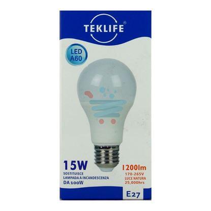TEKLIFE LAMPADA LED SFERA 15W E27 LUCE NATURALE