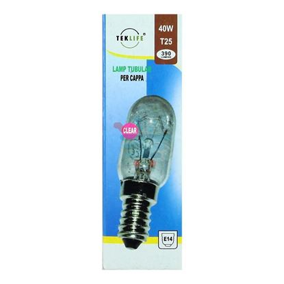TEKLIFE LAMPADA TUBOLARE PER CAPPA 40W E14 CLEAR