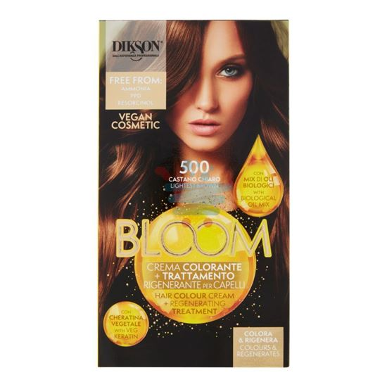 DIKSON BLOOM CREMA COLORANTE 500 CASTANO CHIARO