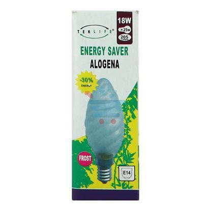 TEKLIFE LAMPADA A TORTIGLIONE SMERIGLIATA ALOGENA E14 W18