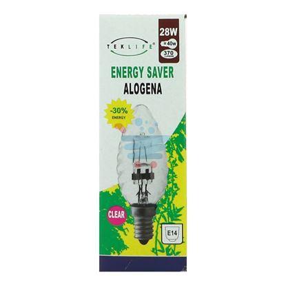 TEKLIFE LAMPADA A TORTIGLIONE ALOGENA E14 W28 CLEAR