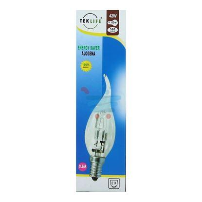 TEKLIFE LAMPADA ALOGENA COLPO DI VENTO 42W E14 CLEAR