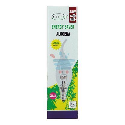 TEKLIFE LAMPADA ALOGENA COLPO DI VENTO 28W E14 CLEAR
