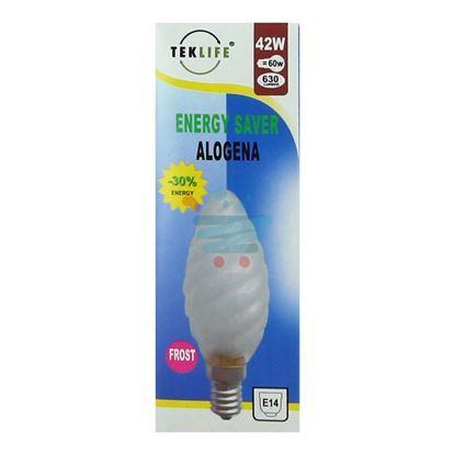 TEKLIFE LAMPADA A TORTIGLIONE SMERIGLIATA ALOGENA E14 W42