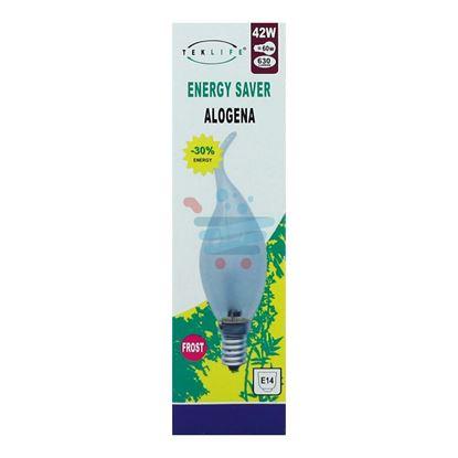 TEKLIFE LAMPADA ALOGENA COLPO DI VENTO SMERIGLIATA 42W E14
