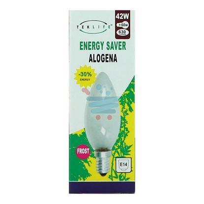 TEKLIFE LAMPADA A CANDELA SMERIGLIATA ALOGENA E14 W42