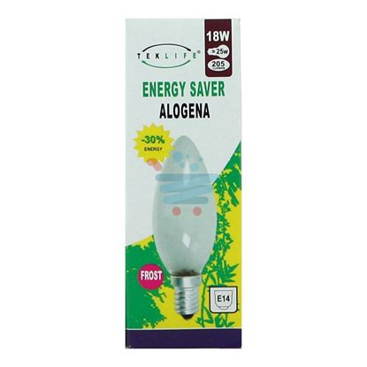 TEKLIFE LAMPADA A CANDELA SMERIGLIATA ALOGENA E14 W18
