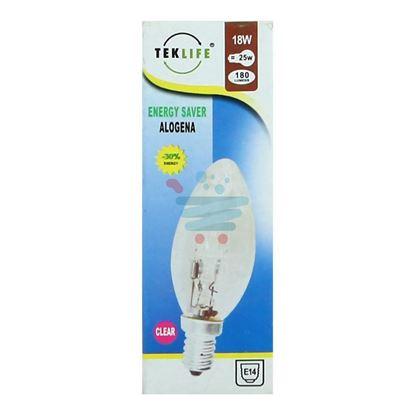 TEKLIFE LAMPADA A CANDELA ALOGENA E14 W18 CLEAR
