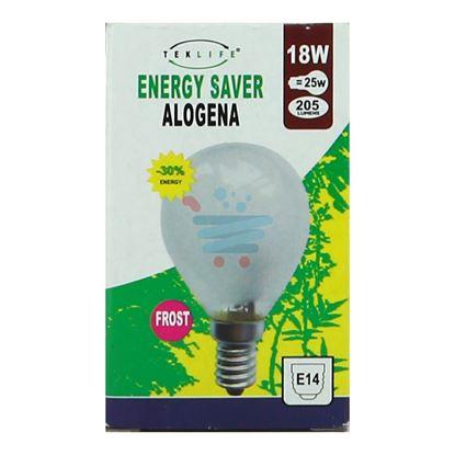 TEKLIFE LAMPADA A SFERA ALOGENA SMERIGLIATA E14 W18