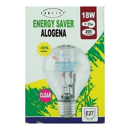 TEKLIFE LAMPADA A SFERA ALOGENA E27 W18CLEAR