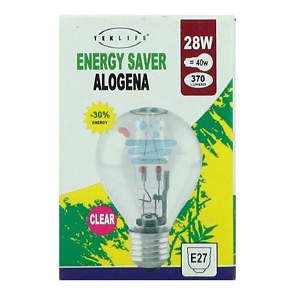 TEKLIFE LAMPADA A SFERA ALOGENA E27 W28 CLEAR