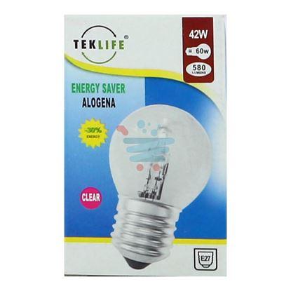 TEKLIFE LAMPADA A SFERA ALOGENA E27 W42 CLEAR