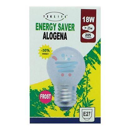 TEKLIFE LAMPADA A SFERA ALOGENA SMERIGLIATA E27 W18