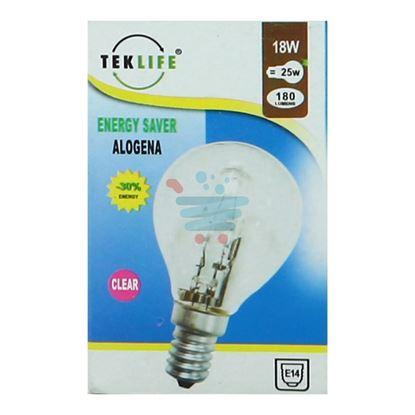 TEKLIFE LAMPADA A SFERA ALOGENA E14 W18 CLEAR