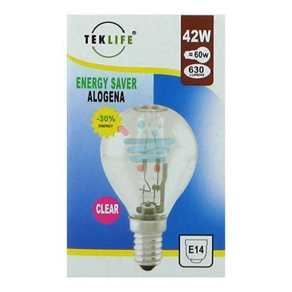 TEKLIFE LAMPADA A SFERA ALOGENA E14 W42 CLEAR