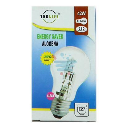 TEKLIFE LAMPADA A SFERA GRANDE ALOGENA E27 W42 CLEAR