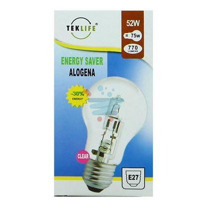 TEKLIFE LAMPADA A SFERA GRANDE ALOGENA E27 W52 CLEAR