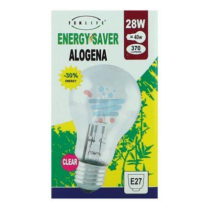 TEKLIFE LAMPADA A SFERA GRANDE ALOGENA E27 W28 CLEAR