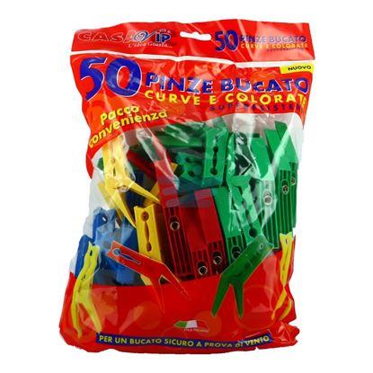 MOLLETTE PLASTICA 50PZ COLOR IN BUSTA