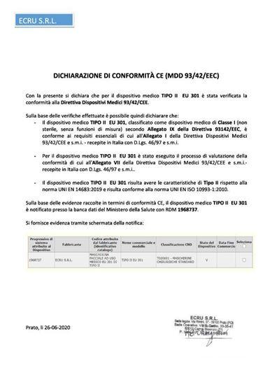 MASCHERINA CHIRURGICA PROLIFE 2020 100 PEZZI BLISTERATI A 10 PEZZI