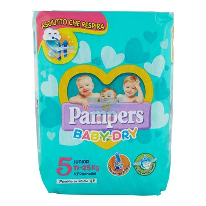 PAMPERS BABY DRY 5 JUNIOR 11-25KG 17PZ
