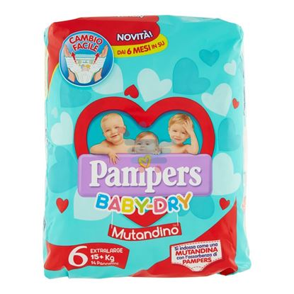 PAMPERS BABY DRY MUTANDINA EXTRALARGE 15+ KG 14PZ MIS.6