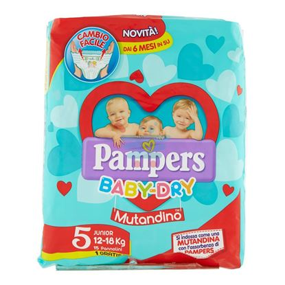 PAMPERS BABY DRY MUTANDINA JUNIOR 12-18KG 16PZ MIS.5