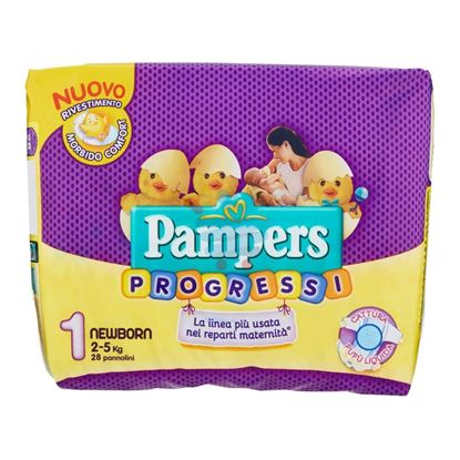 PAMPERS PROGRESSI NEWBORN 2-5KG 28 PEZZI