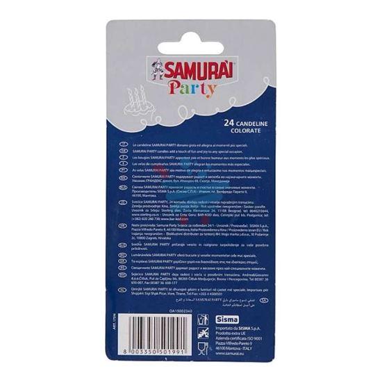 SAMURAI PARTY CANDELINE BUON COMPLEANNO 24PZ