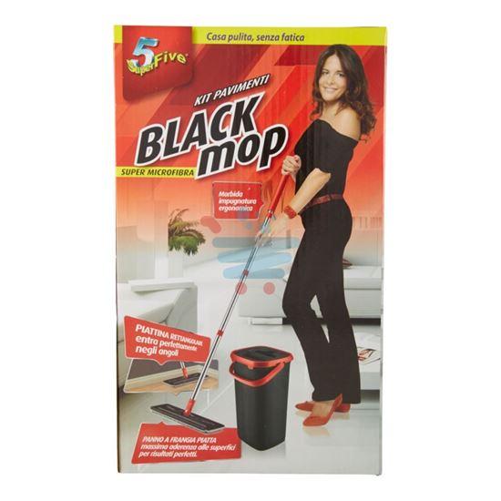 SUPERFIVE BLACK MOP KIT PAVIMENTI